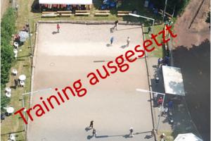 Aussetzung Trainingsbetrieb