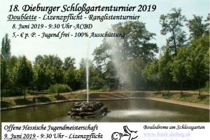 Flugblatt Schloßgartenturnier