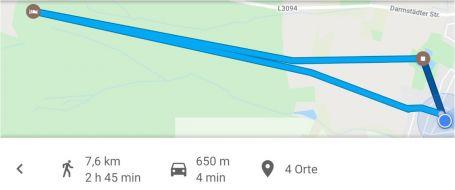 Vereinsausflug Strecke